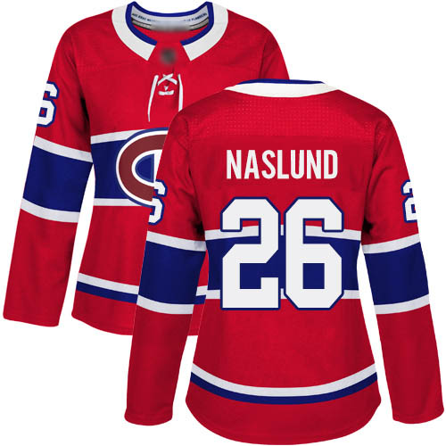 Adidas Women's Mats Naslund Authentic Red Home Jersey: NHL #26 Montreal Canadiens