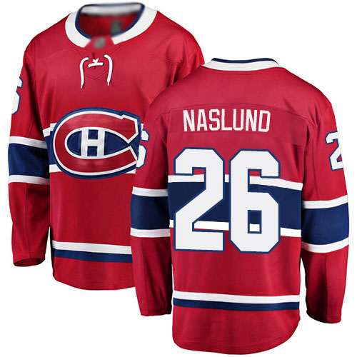 Fanatics Branded Men's Mats Naslund Breakaway Red Home Jersey: NHL #26 Montreal Canadiens