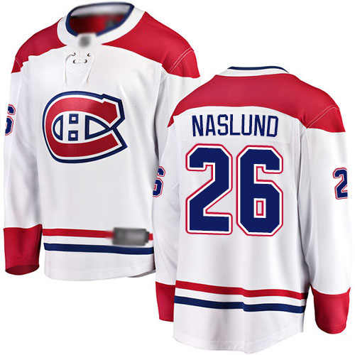 Fanatics Branded Youth Mats Naslund Breakaway White Away Jersey: NHL #26 Montreal Canadiens