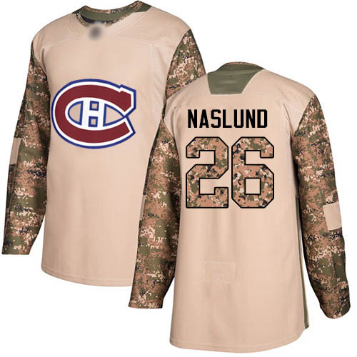 Adidas Men's Mats Naslund Authentic Camo Jersey: NHL #26 Montreal Canadiens Veterans Day Practice