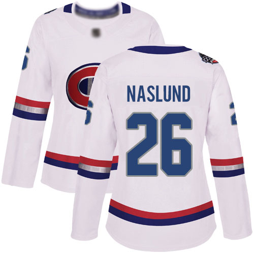 Adidas Women's Mats Naslund Authentic White Jersey: NHL #26 Montreal Canadiens 2017 100 Classic
