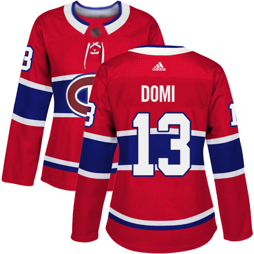 Adidas Women's Max Domi Premier Red Home Jersey: NHL #13 Montreal Canadiens