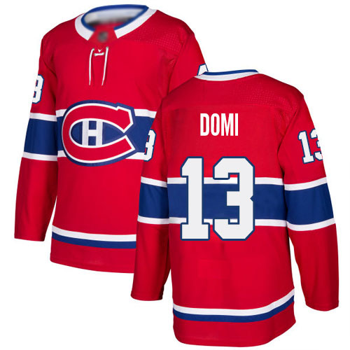 Adidas Men's Max Domi Authentic Red Home Jersey: NHL #13 Montreal Canadiens