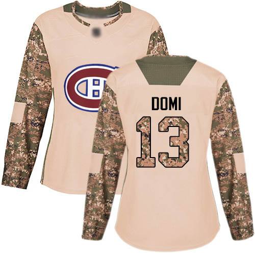 Adidas Women's Max Domi Authentic Camo Jersey: NHL #13 Montreal Canadiens Veterans Day Practice