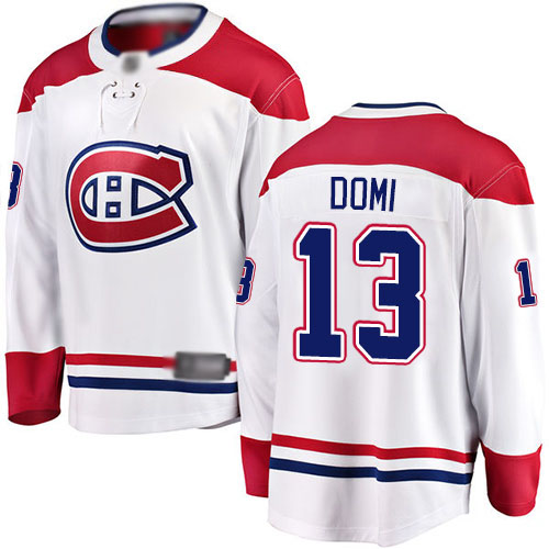 Fanatics Branded Youth Max Domi Breakaway White Away Jersey: NHL #13 Montreal Canadiens