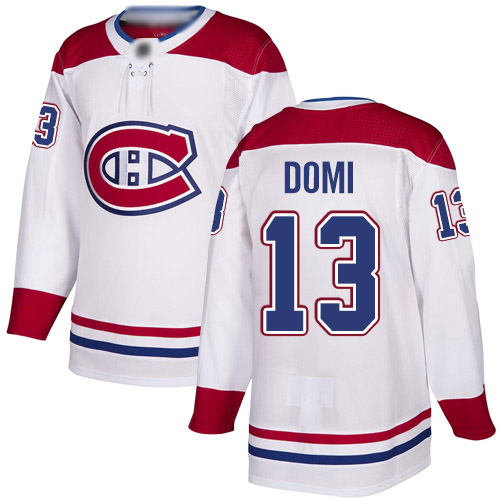 Adidas Youth Max Domi Authentic White Away Jersey: NHL #13 Montreal Canadiens