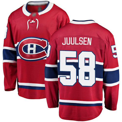Fanatics Branded Men's Noah Juulsen Breakaway Red Home Jersey: Hockey #58 Montreal Canadiens