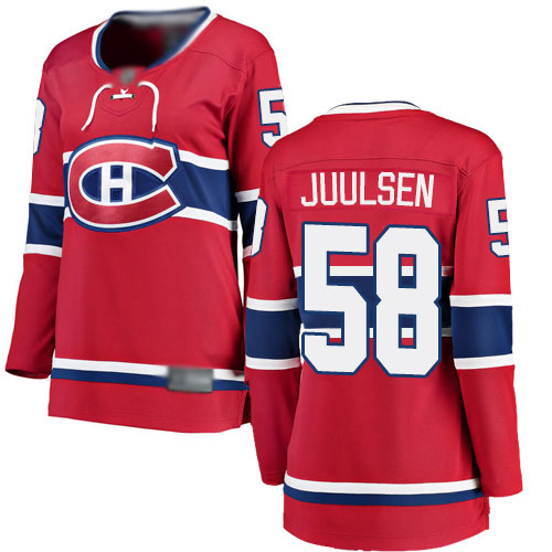 Fanatics Branded Women's Noah Juulsen Breakaway Red Home Jersey: Hockey #58 Montreal Canadiens