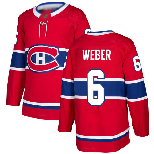Adidas Youth Shea Weber Authentic Red Home Jersey: NHL #6 Montreal Canadiens