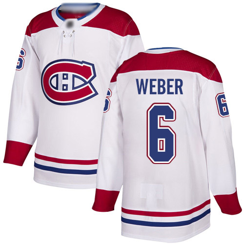 Reebok Youth Shea Weber Authentic White Away Jersey: NHL #6 Montreal Canadiens