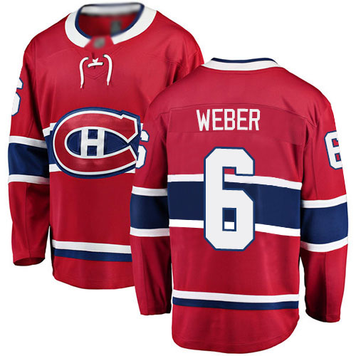 Fanatics Branded Men's Shea Weber Breakaway Red Home Jersey: NHL #6 Montreal Canadiens