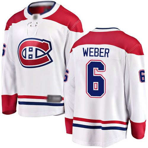 Fanatics Branded Men's Shea Weber Breakaway White Away Jersey: NHL #6 Montreal Canadiens