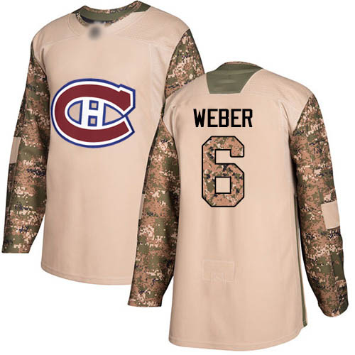 Adidas Youth Shea Weber Authentic Camo Jersey: NHL #6 Montreal Canadiens Veterans Day Practice