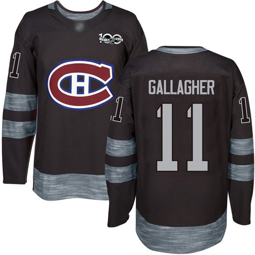 Adidas Men's Brendan Gallagher Authentic Black Jersey: NHL #11 Montreal Canadiens 1917-2017 100th Anniversary