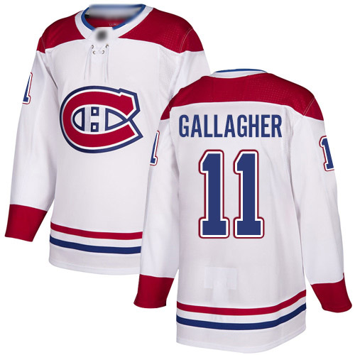 Reebok Youth Brendan Gallagher Authentic White Away Jersey: NHL #11 Montreal Canadiens