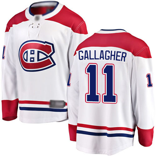 Fanatics Branded Youth Brendan Gallagher Breakaway White Away Jersey: NHL #11 Montreal Canadiens