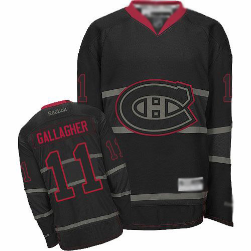 Reebok Men's Brendan Gallagher Authentic Black Ice Jersey: NHL #11 Montreal Canadiens