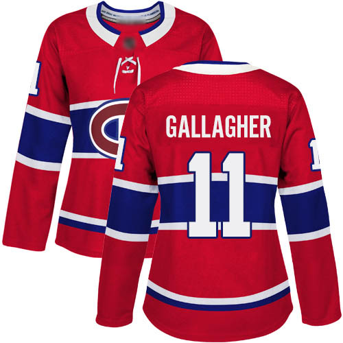 Adidas Women's Brendan Gallagher Premier Red Home Jersey: NHL #11 Montreal Canadiens