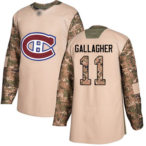 Adidas Men's Brendan Gallagher Authentic Camo Jersey: NHL #11 Montreal Canadiens Veterans Day Practice