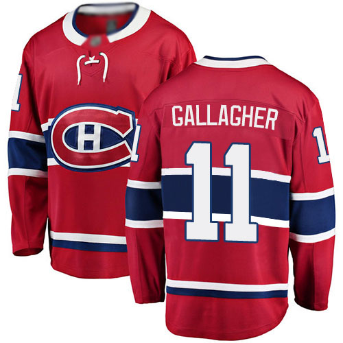 Fanatics Branded Men's Brendan Gallagher Breakaway Red Home Jersey: NHL #11 Montreal Canadiens