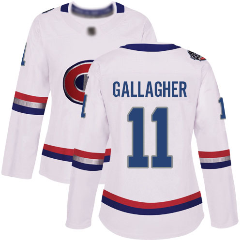 Adidas Women's Brendan Gallagher Authentic White Jersey: NHL #11 Montreal Canadiens 2017 100 Classic