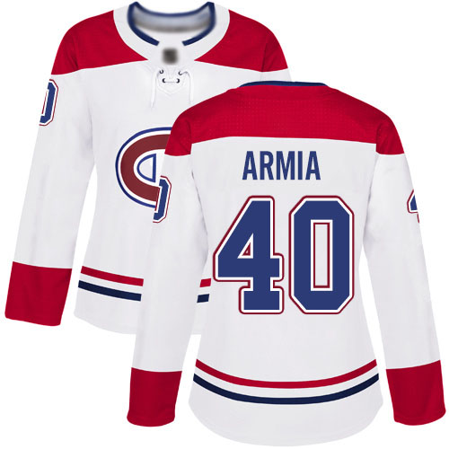 Adidas Women's Joel Armia Authentic White Away Jersey: NHL #40 Montreal Canadiens