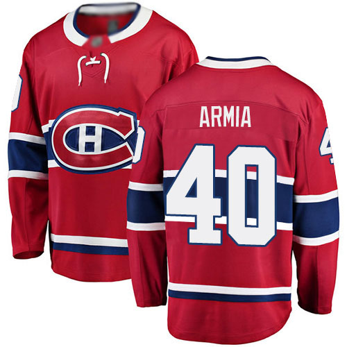 Fanatics Branded Men's Joel Armia Breakaway Red Home Jersey: NHL #40 Montreal Canadiens