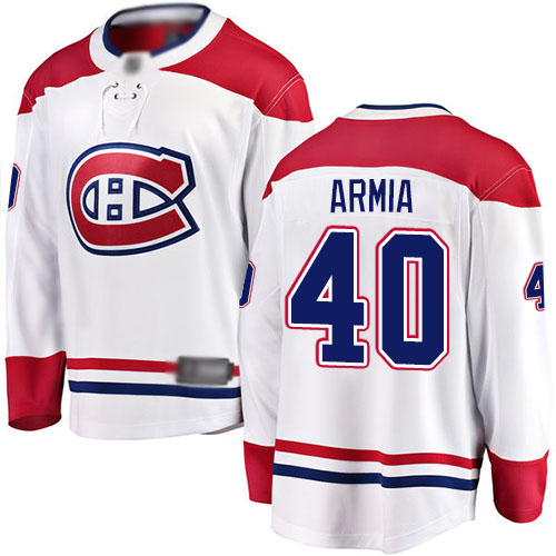 Fanatics Branded Youth Joel Armia Breakaway White Away Jersey: NHL #40 Montreal Canadiens