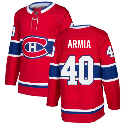 Adidas Men's Joel Armia Authentic Red Home Jersey: NHL #40 Montreal Canadiens