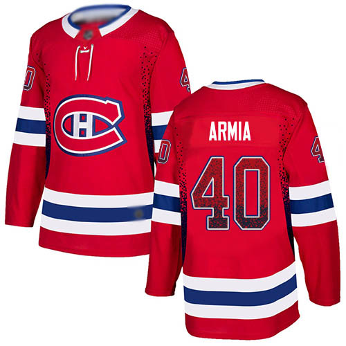 Adidas Men's Joel Armia Authentic Red Jersey: NHL #40 Montreal Canadiens Drift Fashion
