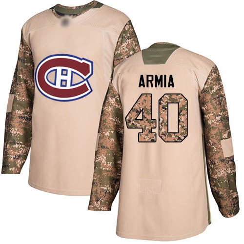 Adidas Youth Joel Armia Authentic Camo Jersey: NHL #40 Montreal Canadiens Veterans Day Practice