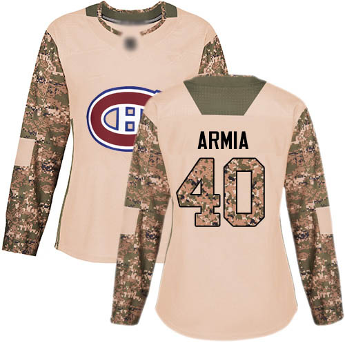 Adidas Women's Joel Armia Authentic Camo Jersey: NHL #40 Montreal Canadiens Veterans Day Practice