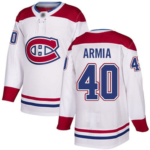 Adidas Youth Joel Armia Authentic White Away Jersey: NHL #40 Montreal Canadiens