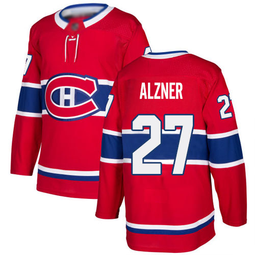 Adidas Youth Karl Alzner Authentic Red Home Jersey: NHL #27 Montreal Canadiens