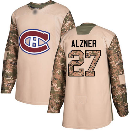 Adidas Youth Karl Alzner Authentic Camo Jersey: NHL #27 Montreal Canadiens Veterans Day Practice