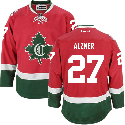 Reebok Youth Karl Alzner Authentic Red Third Jersey: NHL #27 Montreal Canadiens New CD