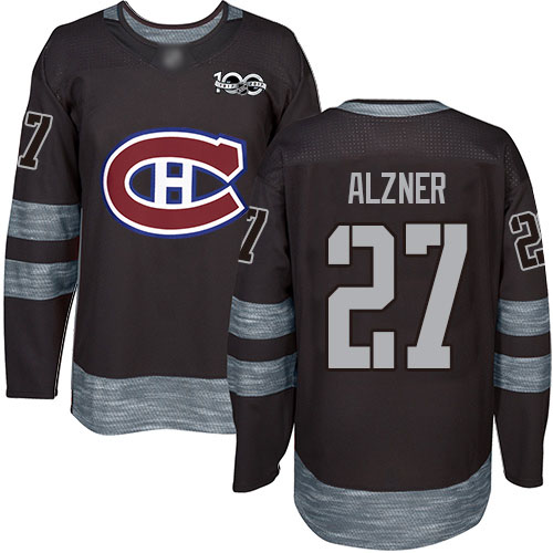 Adidas Men's Karl Alzner Authentic Black Jersey: NHL #27 Montreal Canadiens 1917-2017 100th Anniversary