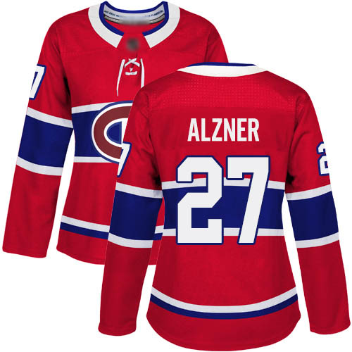 Adidas Women's Karl Alzner Authentic Red Home Jersey: NHL #27 Montreal Canadiens