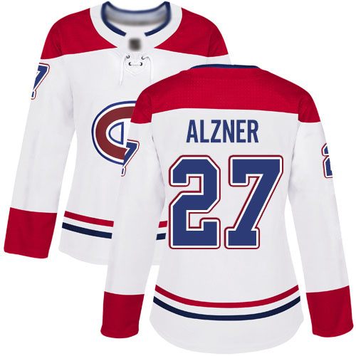 Adidas Women's Karl Alzner Authentic White Away Jersey: NHL #27 Montreal Canadiens