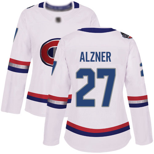 Adidas Women's Karl Alzner Authentic White Jersey: NHL #27 Montreal Canadiens 2017 100 Classic
