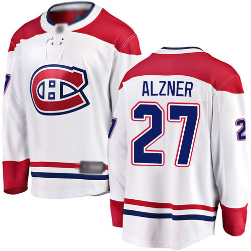 Fanatics Branded Men's Karl Alzner Breakaway White Away Jersey: NHL #27 Montreal Canadiens
