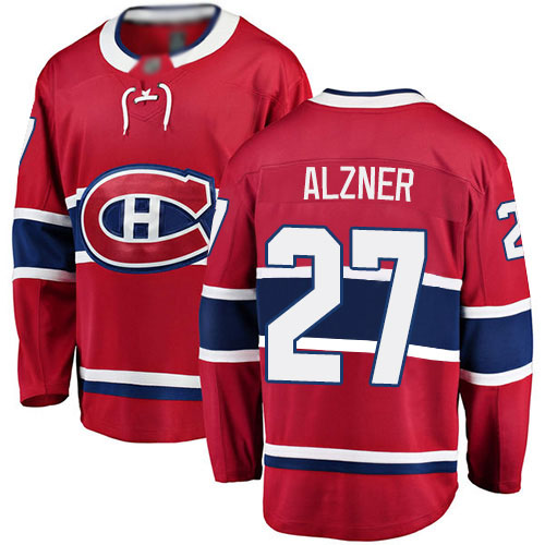 Fanatics Branded Youth Karl Alzner Breakaway Red Home Jersey: NHL #27 Montreal Canadiens