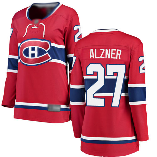 Fanatics Branded Women's Karl Alzner Breakaway Red Home Jersey: NHL #27 Montreal Canadiens